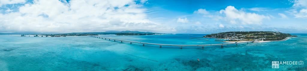 日本沖繩旅游全景空拍攝影